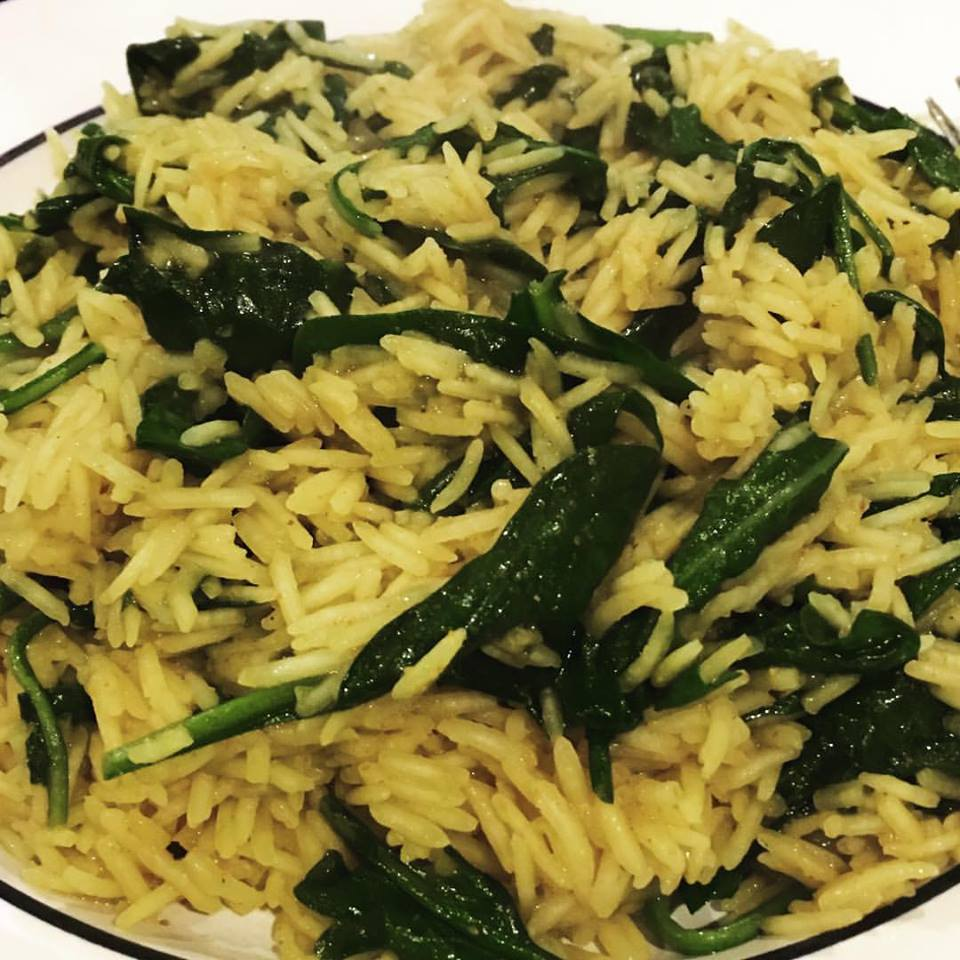 basmati with greens